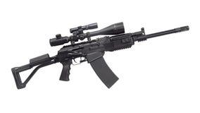 Kalashnikov AK machine gun. Kalashnikov AK  machine gun isolated on the white background Stock Photo