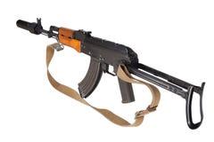 Kalashnikov AK47 med ljuddämparen Royaltyfria Bilder