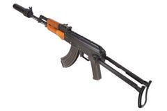 Kalashnikov AK47 med ljuddämparen Royaltyfri Foto