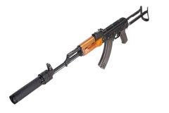 Kalashnikov AK47 med ljuddämparen Royaltyfria Foton