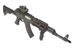 Kalashnikov AK47 with modern accessories Royalty Free Stock Photography