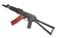 Kalashnikov AK modern assault rifle on white Stock Photography