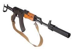 Kalashnikov AK47 with silencer Stock Image