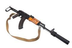 Kalashnikov AK47 with silencer Royalty Free Stock Photos