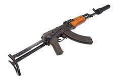 Kalashnikov AK47 with silencer Royalty Free Stock Photo