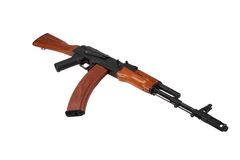 Kalashnikov ak74 isolated on a white background Stock Photos