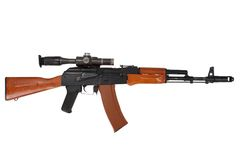 Kalashnikov ak74 with sniper scope Royalty Free Stock Photo