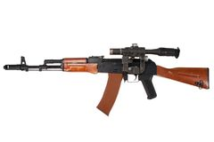 Kalashnikov ak74 with sniper scope Royalty Free Stock Photography