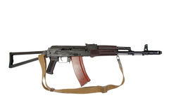 Kalashnikov aks-74 para isolated on a white background Royalty Free Stock Image