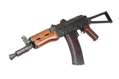 Kalashnikov aks74u isolated Stock Photos