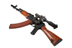Kalashnikov assault rifle ak74 with sniper scope Royalty Free Stock Images