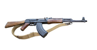 The Kalashnikov assault rifle folding Stock Photo