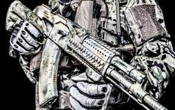 Kalashnikov assault rifle on white background Stock Images