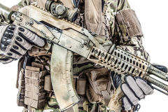 Kalashnikov assault rifle on white background Stock Image