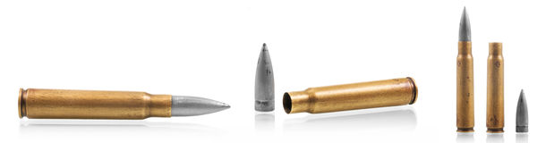 Kalashnikov 47 Bullet cartridges Royalty Free Stock Image