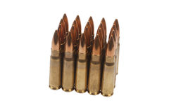 Kalashnikov cartridges Stock Photography