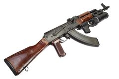 Kalashnikov with GP-25 grenade launcher Stock Photography
