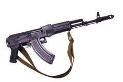 Kalashnikov machine gun. Black Kalashnikov AK-47 submachine gun. Isolated on white Royalty Free Stock Photo