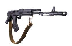 Kalashnikov machine gun. Black Kalashnikov AK-47 submachine gun. Isolated on white Stock Photography