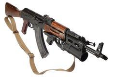 Kalashnikov met gp-25 granaatlanceerinrichting Royalty-vrije Stock Foto's