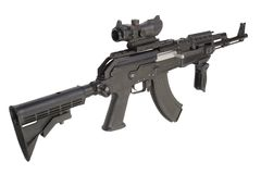 Kalashnikov moderno AK47 Fotos de Stock Royalty Free