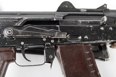 Kalashnikov rifle. Second safety lever position. Stock Photography