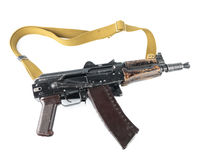 Kalashnikov rifle. Third safety lever position. Stock Image