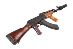 Kalashnikov with silencer Royalty Free Stock Photography