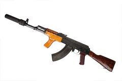 Kalashnikov with silencer Stock Image