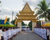 Kalasin, Thailand - 27. Dezember: Das Einladungs-Feuer des königlichen Cr Lizenzfreies Stockbild