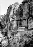 Kalavryta的兆Spileo修道院,希腊 免版税库存图片