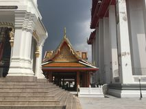 In Kalayanamit Temple in Bangkok Thailand. True friend temple Wat Kalayanamit Varamahavihara is a Buddhist temple in Bangkok, Thailand. The temple is located in Stock Image