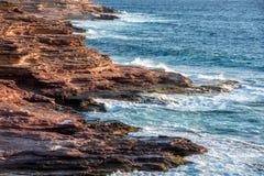 Kalbarri Batavia coast cliffs on the ocean Stock Image