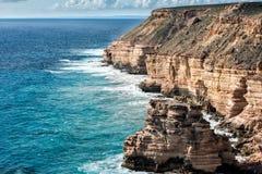 Kalbarri Batavia marchent des falaises sur l'océan Photographie stock libre de droits