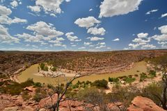 Murchison river. Kalbarri National Park. Western Australia. Australia. Kalbarri National Park is located 485 km km north of Perth, in the Mid West region of royalty free stock photography