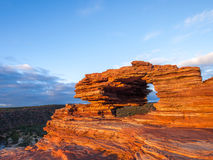 Kalbarri National Park - Natures Window Australia. The view to the winding river through the natural geological rock formation 'Natures Window' in Kalbarri Stock Photography