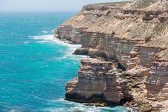 Kalbarri Steep Cliff Coast Royalty Free Stock Photos