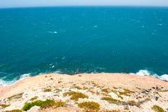 Kalbarri Steep Cliff Coast Royalty Free Stock Photo