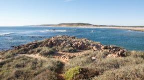 Kalbarri, Westelijk Australië: MurchisonRiviermonding royalty-vrije stock fotografie