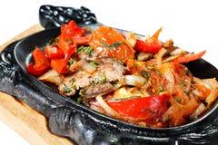 Kalbfleisch-Braten mit Gemüse Stockfotografie