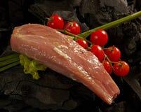 Kalbfleisch mit Kirschtomaten Stockfotografie