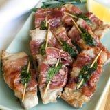 Kalbfleisch Saltimbocca Lizenzfreie Stockfotos
