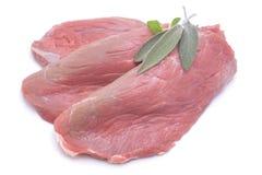 Kalbfleisch Schnitzel lizenzfreie stockfotos