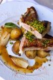 Kalbfleisch und Kartoffeln Stockbilder