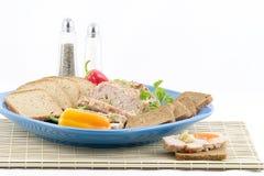 Kalbfleisch-und Schweinefleisch-Laibsandwiche Lizenzfreie Stockfotos