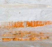 kalcier badar och unikt abstrakt begrepp för travertine i pamukkalekalkon Arkivbild