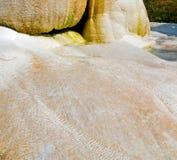 kalcier badar och unikt abstrakt begrepp för travertine i pamukkalekalkon Arkivfoto
