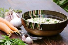Kaldaunensuppe für ein Mittagessen Lizenzfreies Stockfoto