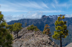 Kaldera De Taburiente na losie angeles Palma, wyspy kanaryjska, Hiszpania Obrazy Royalty Free