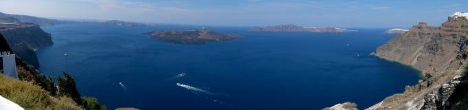 Kaldera panoramiczny widok fotografia royalty free